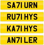 new 71 plates